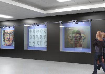 Art Gallery Display Rendering